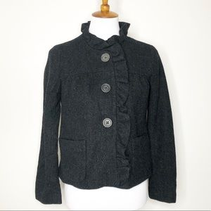 Womens J. Crew Fiona Wool Blazer Jacket sz 2